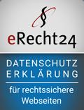 Erecht24-siegel-datenschutzerklaerung-blau in Datenschutz